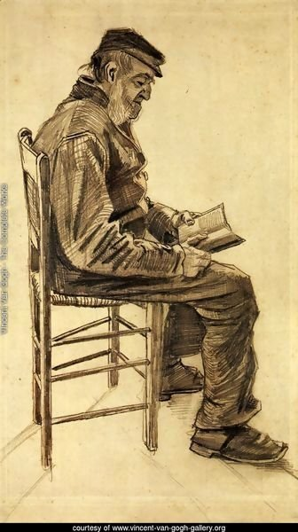 Old Man Reading