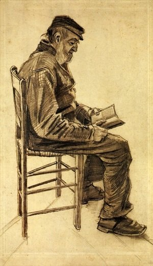 Vincent Van Gogh - Old Man Reading