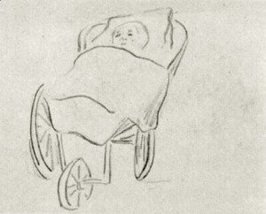 Vincent Van Gogh - Baby in a Carriage