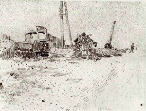 Vincent Van Gogh - Road with Telegraph Pole and Crane