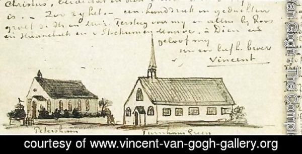 Vincent Van Gogh - Churches at Petersham and Turnham Green