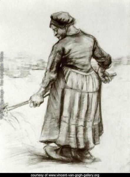 Peasant Woman, Pitching Wheat or Hay 2