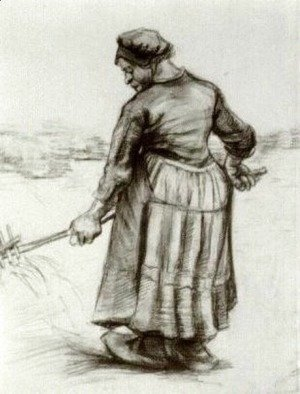 Vincent Van Gogh - Peasant Woman, Pitching Wheat or Hay 2