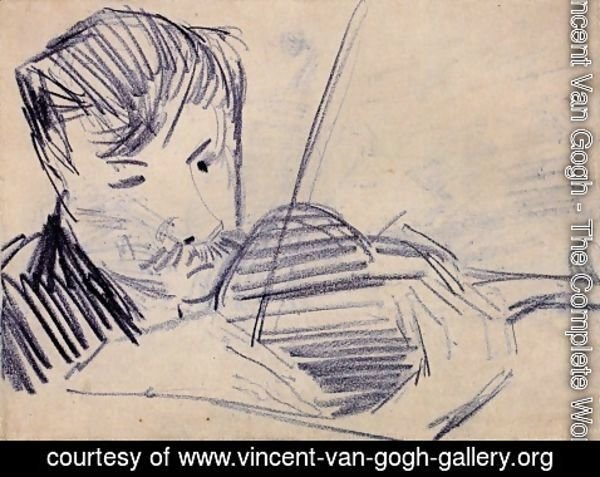 Vincent Van Gogh - Violinist Seen from the Front