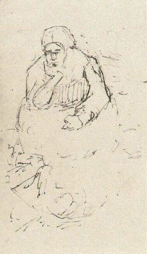 Peasant Woman, Sitting with Chin in Hand
