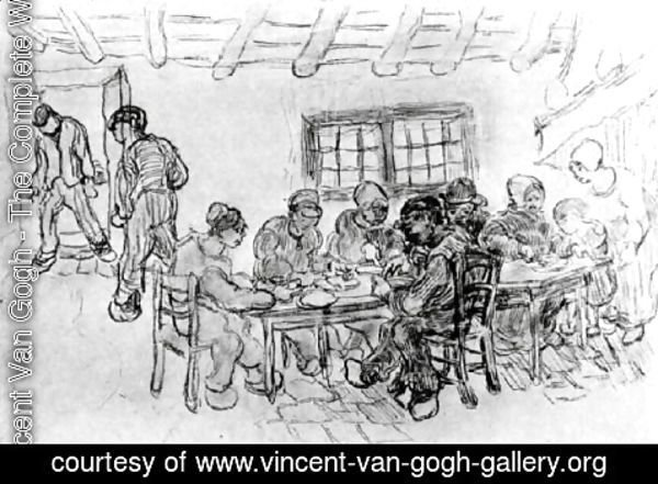 Vincent Van Gogh - Sheet with Two Groups of Peasants at a Meal