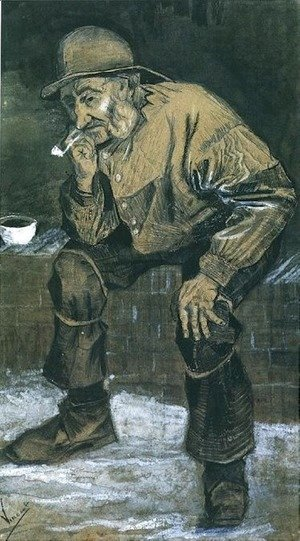 Vincent Van Gogh - Fisherman with Sou'wester, Sitting with Pipe 2