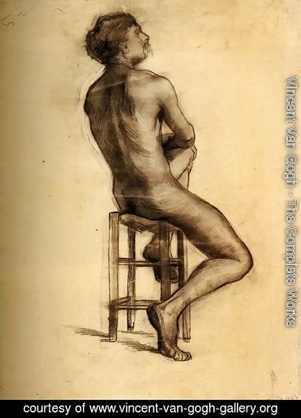 Vincent Van Gogh - Seated Male Nude Seen from the Back