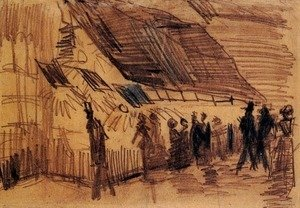 Vincent Van Gogh - Strollers and Onlookers at a Place of Entertainment