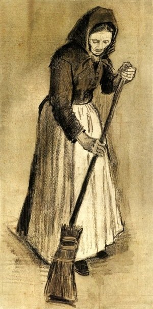 Vincent Van Gogh - Woman with a Broom 2