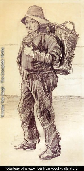 Vincent Van Gogh - Fisherman with Basket on his Back