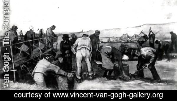 Vincent Van Gogh - Peat Diggers in the Dunes 2