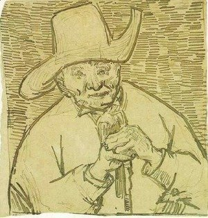 Vincent Van Gogh - The Old Peasant Patience Escalier with Walking Stick, Half-Figure