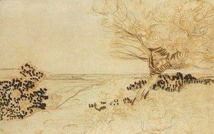 Vincent Van Gogh - Landscape with a Tree in the Foreground 2