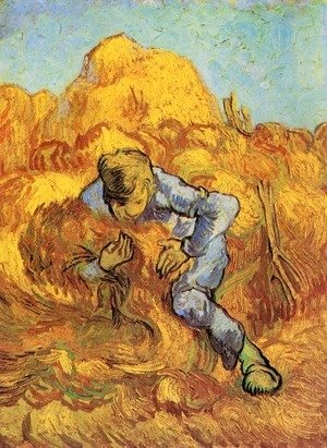 Vincent Van Gogh - Sheaf-Binder, The after Millet