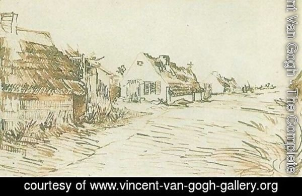 Vincent Van Gogh - Cottages in Saintes-Maries