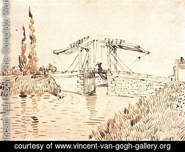 Vincent Van Gogh - Drawbridge with Lady with Parasol