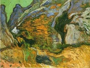 Vincent Van Gogh - The gully Peiroulets 2