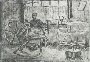 Vincent Van Gogh - Woman Reeling Yarn 2