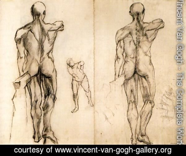 Vincent Van Gogh - L'Ecorche and Borghese Gladiator