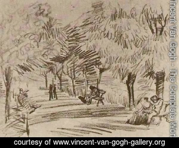 Vincent Van Gogh - A Lane in the Public Garden with Benches