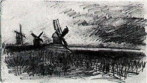Vincent Van Gogh - Windmills at Montmartre