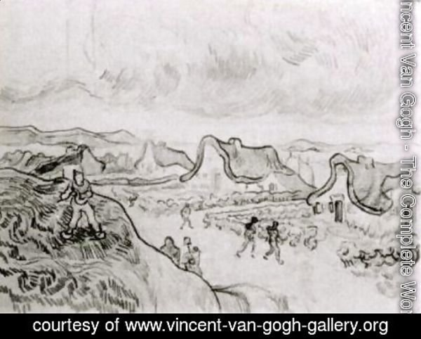 Vincent Van Gogh - Diggers and Road with Cottages