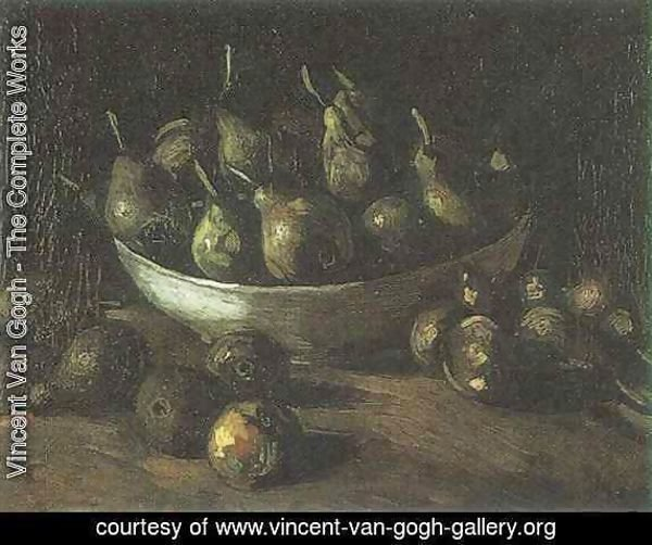 Still life with an Earthern bowl and pears