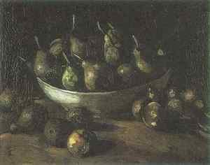 Vincent Van Gogh - Still life with an Earthern bowl and pears