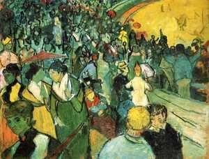 Vincent Van Gogh - Spectators in the Arena at Arles 2