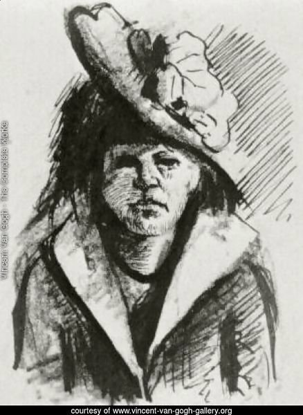 Woman with Hat, Half-Length