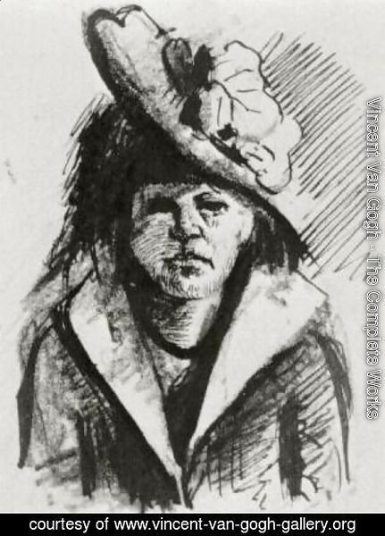 Vincent Van Gogh - Woman with Hat, Half-Length