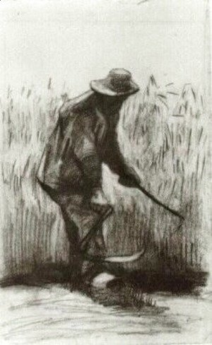 Vincent Van Gogh - Peasant with Sickle, Seen from the Back 6