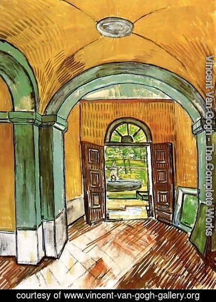 Vincent Van Gogh - The Entrance Hall of Saint-Paul Hospital