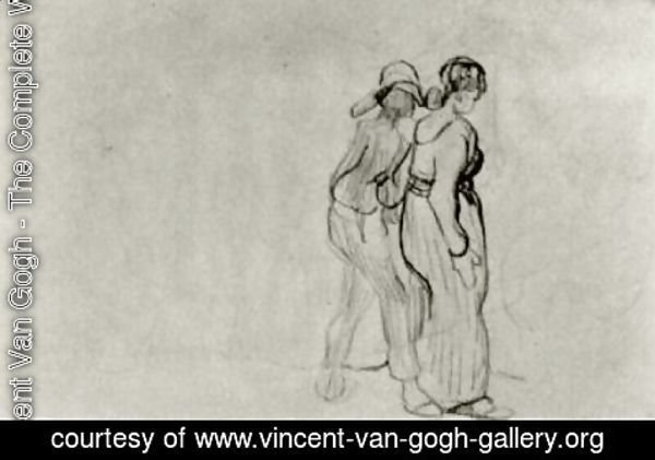 Vincent Van Gogh - Couple Walking