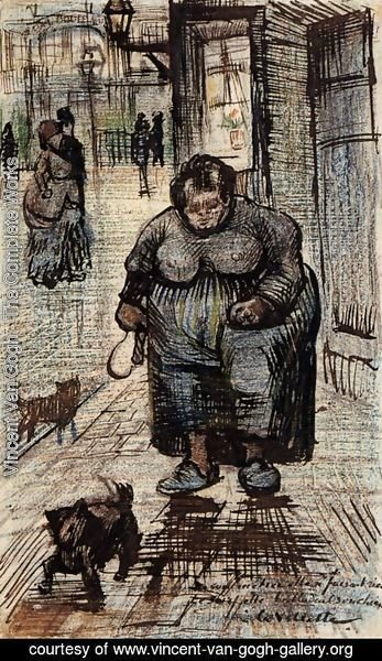Vincent Van Gogh - Woman Walking Her Dog