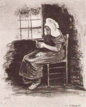 Vincent Van Gogh - Woman Peeling Potatoes near a Window 2