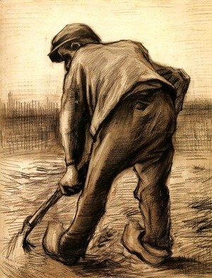 Vincent Van Gogh - Digger in a Potato Field February