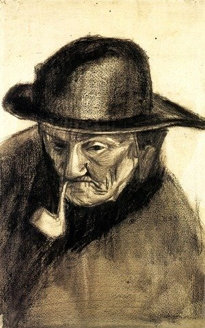 Vincent Van Gogh - Head of a Fisherman with a Sou'wester 2