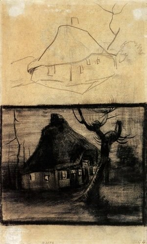 Vincent Van Gogh - Two Studies of a Cottage