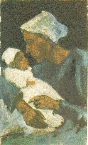 Vincent Van Gogh - Woman Sien with Baby on her Lap, Half-Figure