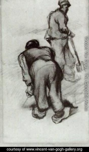 Vincent Van Gogh - Study of Two Peasants 2
