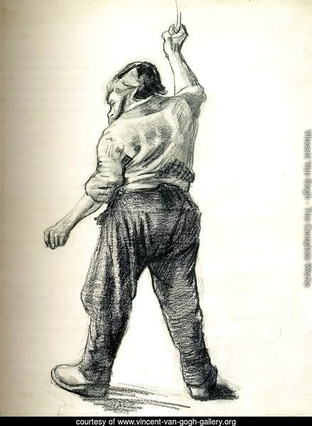 Standing Man Seen from the Back