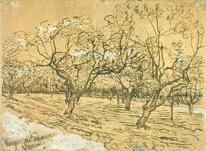Vincent Van Gogh - Orchard with Blossoming Plum Trees (The White Orchard)