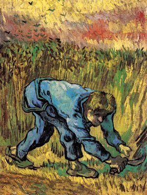 Vincent Van Gogh - Reaper with Sickle (after Millet) 3