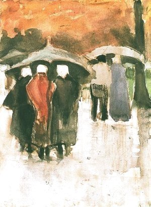 Vincent Van Gogh - Scheveningen Women and Other People Under Umbrellas
