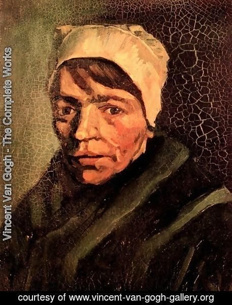 Vincent Van Gogh - Head of a Peasant Woman with White Cap 4