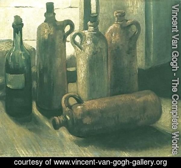 Vincent Van Gogh - Still Life with Five Bottles 2