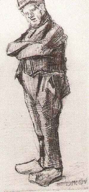 Vincent Van Gogh - Man, Standing with Arms Folded