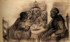 Vincent Van Gogh - Four People Sharing a Meal